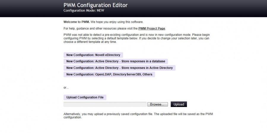 Install PWM on Server 2012